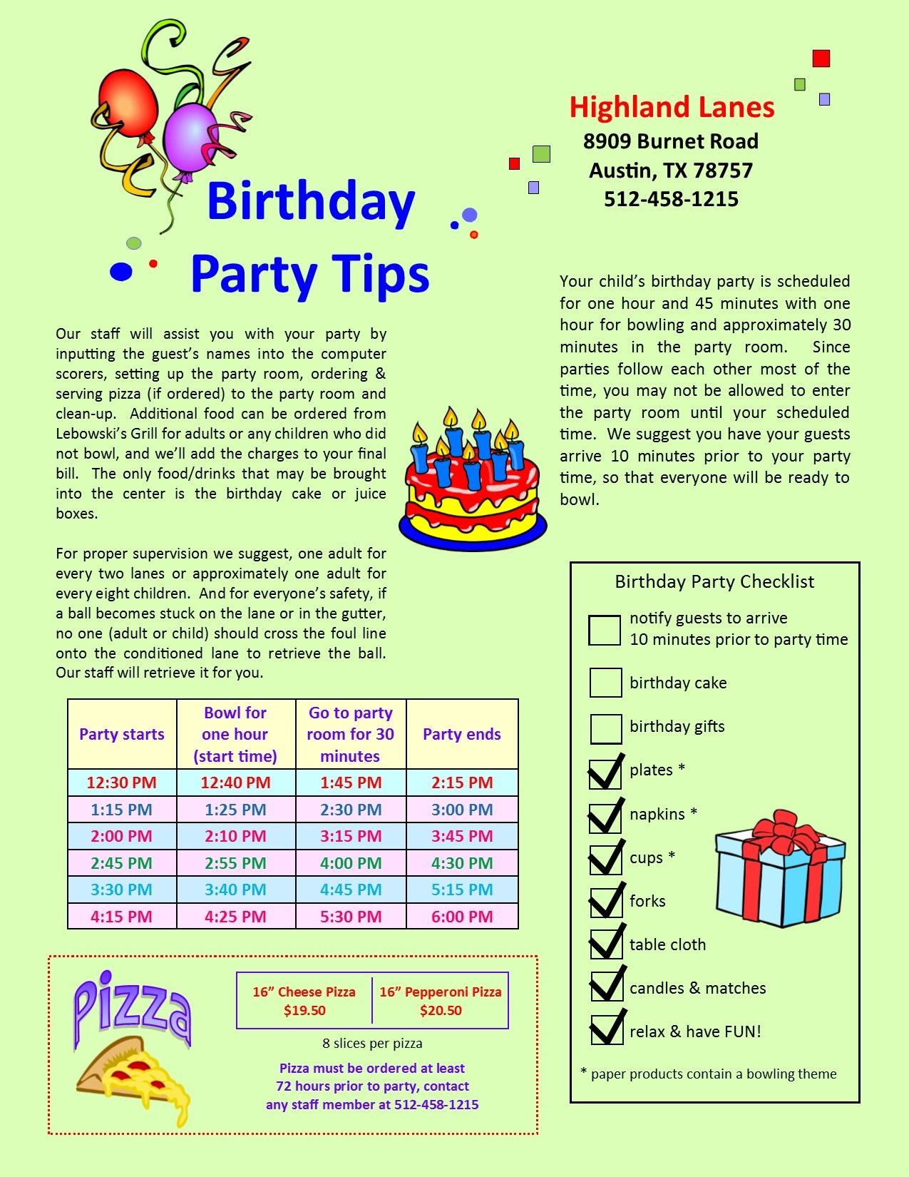 highland lanes u003e parties u0026 events u003e kid u0027s birthdays